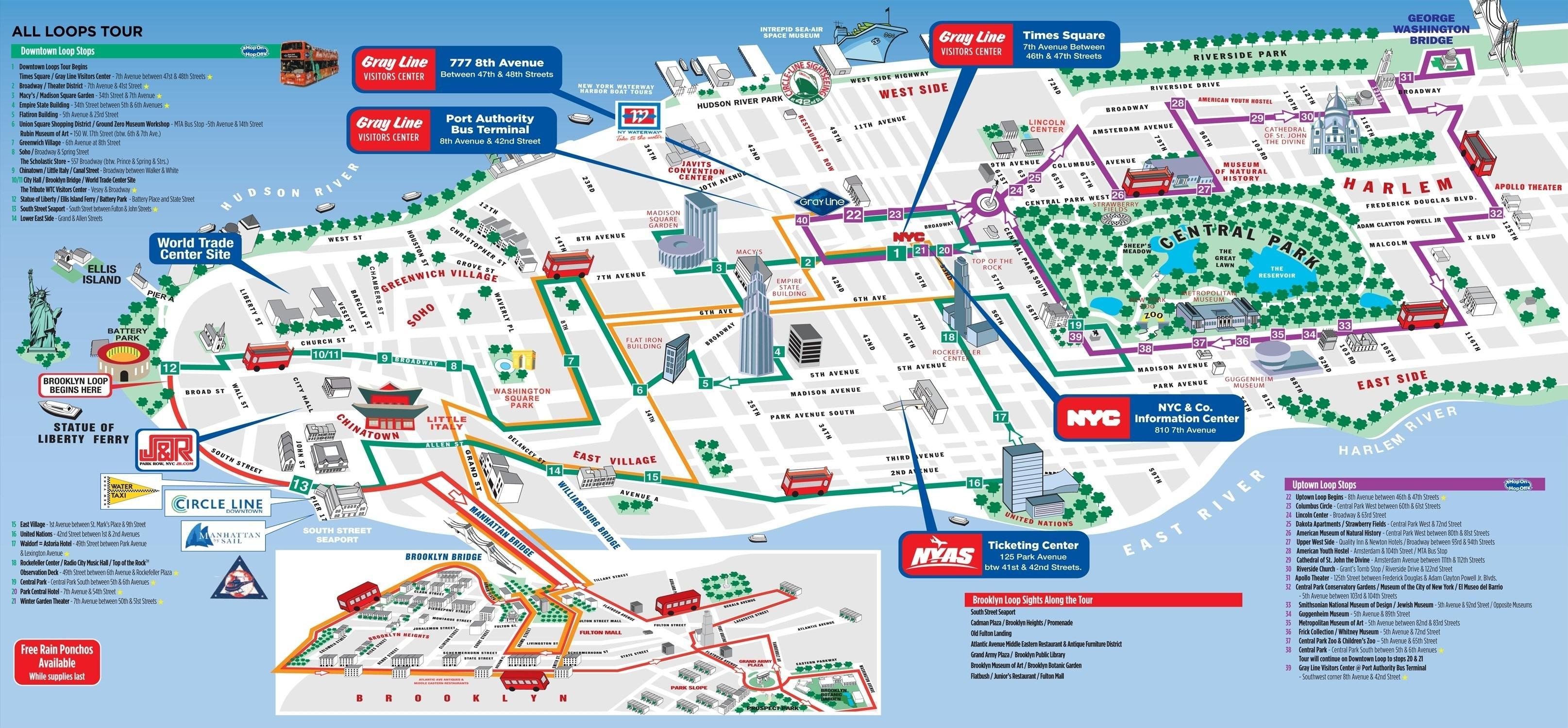 Walking map of Manhattan   Manhattan walking tour map (New York   USA)